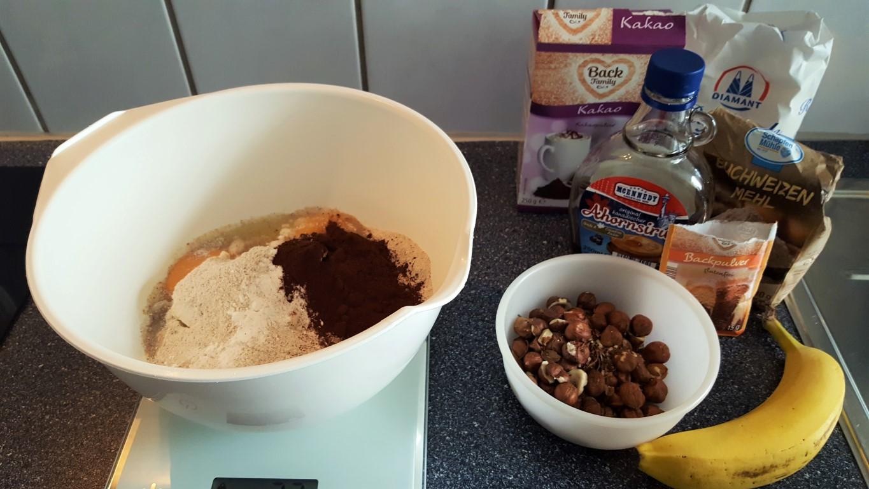 Nuss-Banane Muffin, die Zutaten